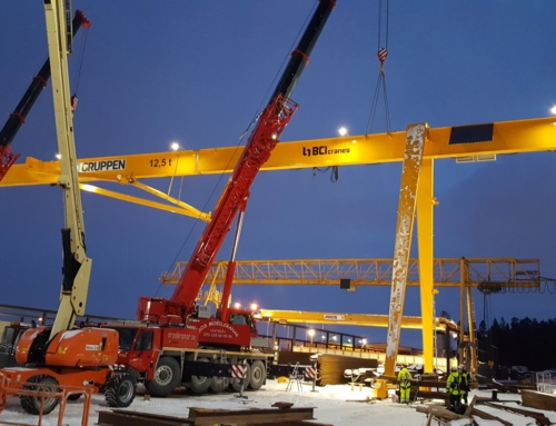 First gantry crane in Sweden