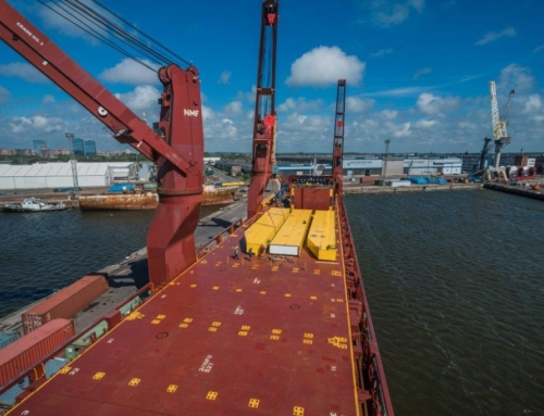 Fourth RMG crane (for container handling) of 41 ton capacity has been shipped to Western Europe